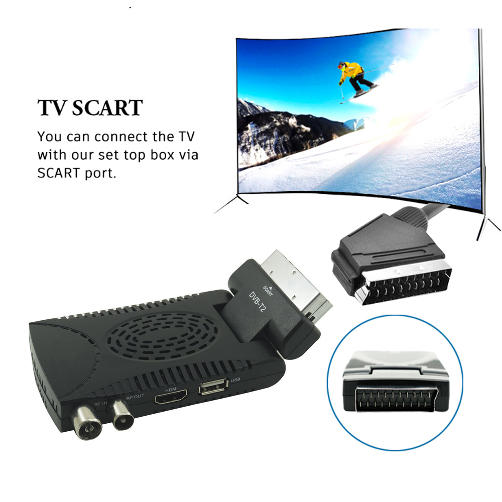 DVB-T2 H265 Scart TV Tuner Box Digital Terrestrial Receptor WIFI Receiver Youtube Set Top Box 1080P IPTV Box 16