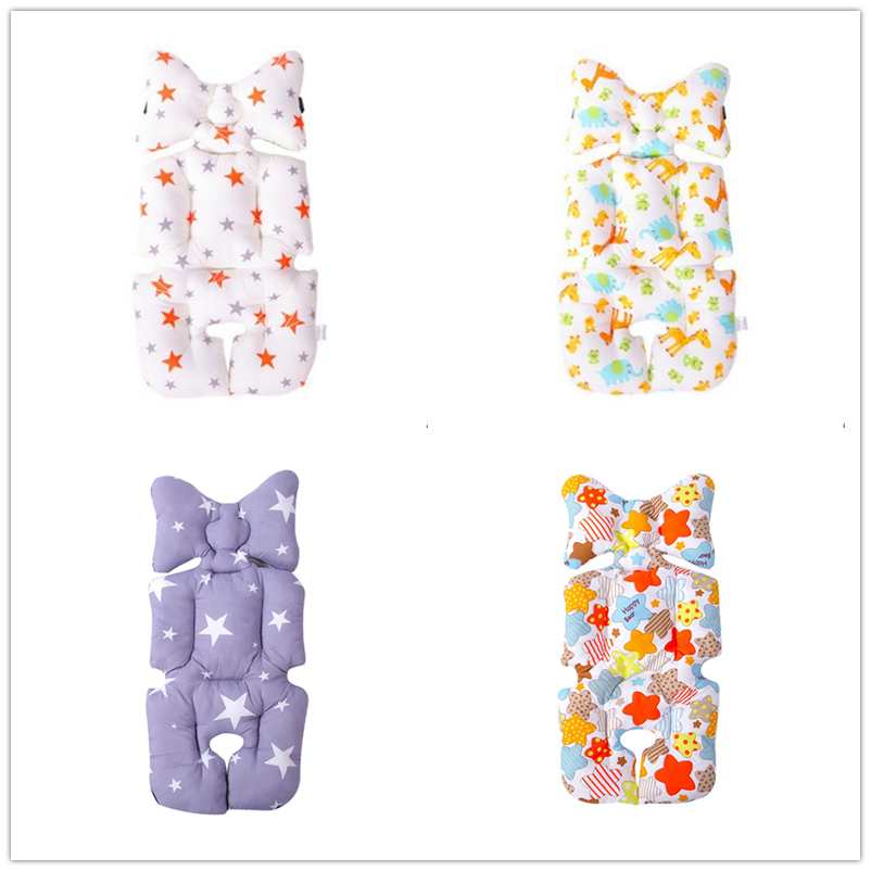 Baby Stroller Seat Pad Cotton Soft Car Seat Cushion Infant Child Cart Mattress Mat Kids Carriage Pram Liner Trolley Accessories