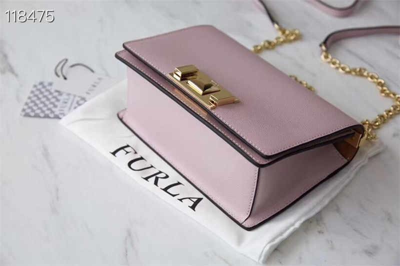 מקורי FURLA נשים של שקיות, גודל קטן באיכות גבוהה נשים של Furla עור שקיות קמליה צבע גודל 20cm * 8cm * 14cm