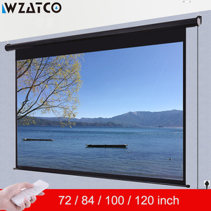 WZATCO Electric projection screen 72