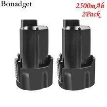 Bonadget para aeg ridgid 2500mah 12v l1215 recarregável ferramentas elétricas li-lon bateria repalacement bs12c, bs12c2, bss12c l1215p l1215r