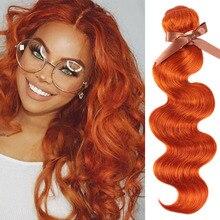 цена на Remy Forte Brazilian Hair Weave Bundles Body Wave Bundles Blonde Hair Bundles 100% Remy Orange Human Hair Extension 3/4 Bundles