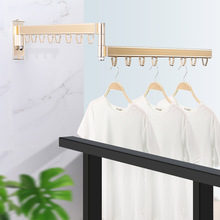 Folding Wall Mounted Clothes Hanger Outdoor Balcony Multi-function Drying Rack Retractable Invisible Folding Clothes Hanger 1PCS
