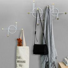 2021 New Creative Clothes Hook Wall Hanging Modern Minimalist Home Geometric Metal Crafts Pendant marshall key holder
