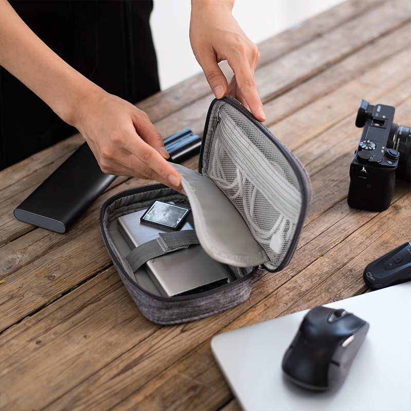 Electronic Accessories Data Cable Organizer Bag Travel USB Charger Storage Case Earphone Wire Pouch