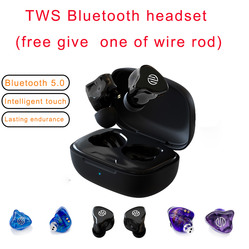 BGVP Q2 TWS wireless cuffie bluetooth earbuds earphone Music Metal Android Microphone  Earbuds Noise Reduction Bass Wired Headse