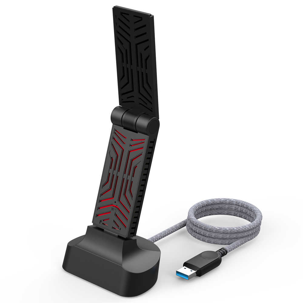 Wavlink AC1900 Dual Band USB 3.0 adaptörü 5Ghz 1900mbps Wifi anten Dongle 2.4G 802.11AC wi-fi alıcı kablosuz ağ adaptörü