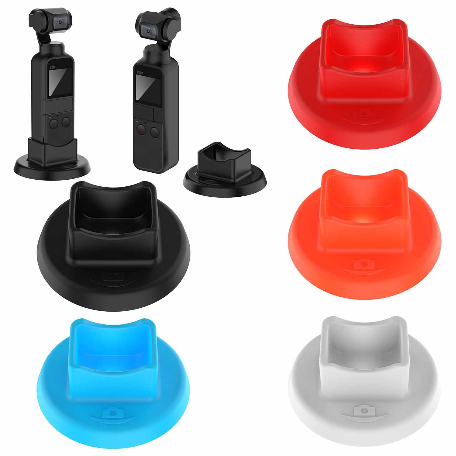 For DJI OSMO Pocket Handheld Gimbal Camera Soft Silicone Support Base Holder Bracket Skid-proof Gimbal Accessories Candy Color