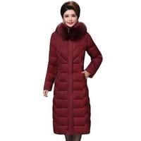 High Quality Winter Jacket Women X long Warm Thicken Female Down Coat Plus Big Size 5XL 6XL Padded Parka Parkas