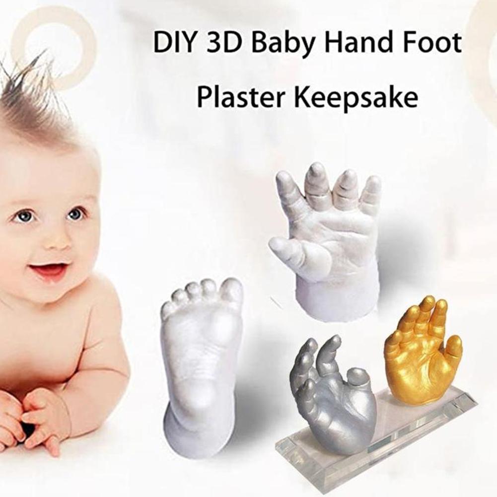 NEUE Baby Handabdruck Fußabdruck Kit 3D Gips Gießen Andenken Sicher ungiftig 0-6 Monate Neugeborenen Pfote Druckt souvenir