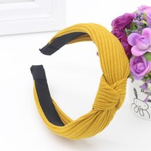 Women's Elastic Twisted Casual Knotted Hair Band Headband(China)