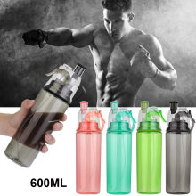 600ML Sport Spray Cooling Water Bottle Gym Beach Bottle Leak-proof Drinking Cup Camping Hiking Bottle For Women Kids(China)