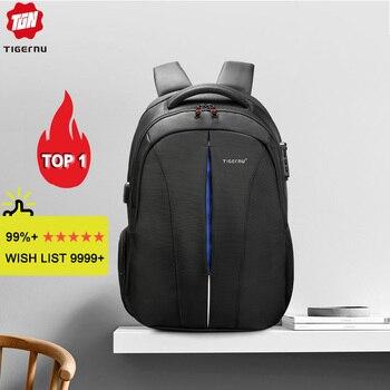 Tigernu брызгозащитный 15.6 дюймовый ноутбук рюкзак без ключа TSA Анти Вор Мужчины рюкзак путешествия подростковый рюкзак сумка мужской рюкзак