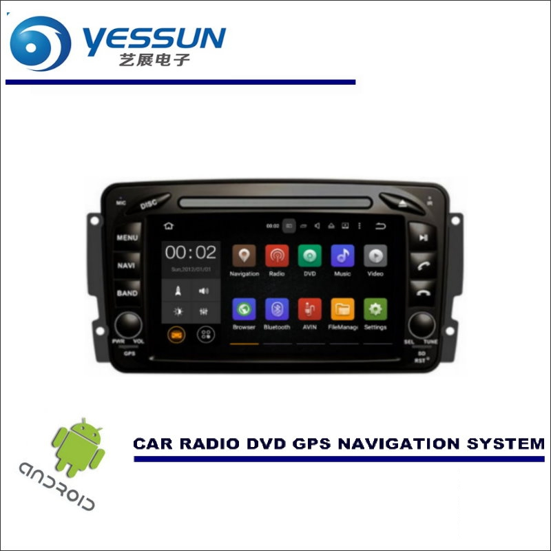 YESSUN Car Navigation For <font><b>Mercedes</b></font> Benz A Class <font><b>A140</b></font> A190 A210 1997~2004 CD DVD GPS Player Navi Radio Stereo HD Wince / Android image