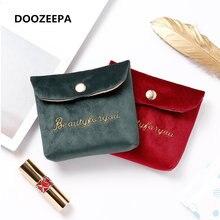 Женская мягкая бархатная косметичка с застежкой сумка для губной