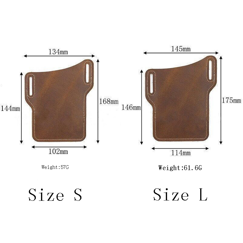 Upgrade New Men Leather Vintage Pack Waist Bag Belt Clip Phone Holster Travel Hiking Cell Mobile Phone Case Belt Pouch Purse