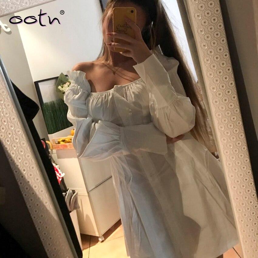Mini vestido feminino casual de manga longa,