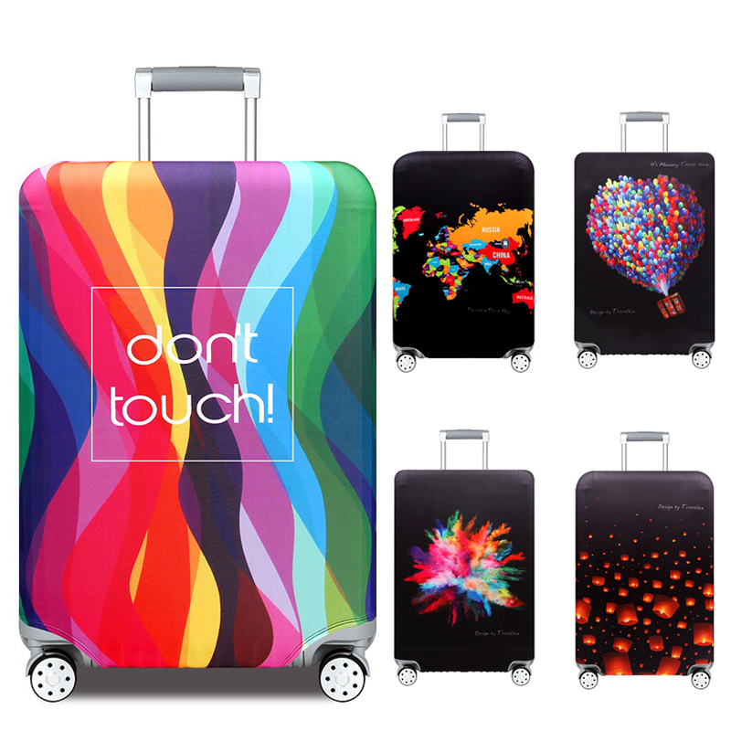 Rainbow Stripes Travel Luggage Cover Protector Thick Suitcase Protective Covers Trolley Baggage Bag Case Accessories For Travel