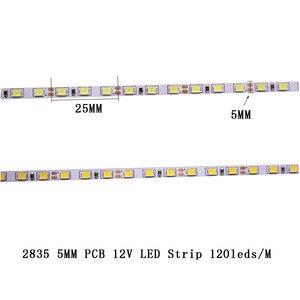 Image 5 - CRI 80+ 5mm 10mm PCB 12V 24V LED strip 2835 120LEDs 240LEDs/m diode Flexible light tape 4000K 6000K Neutural White Warm White 5M