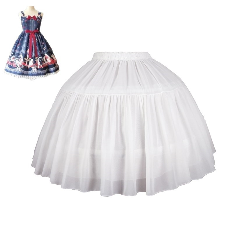 Women's Girl's Lolita Petticoat Bridal Petticoat Cosplay Party Prom Dress Short Underskirt Tulle Crinolina Petticoat Puffy Skirt