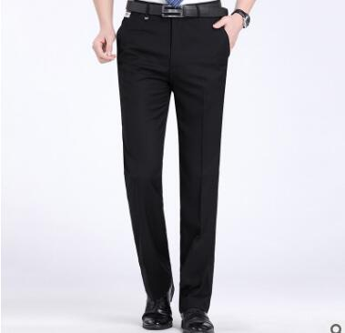 Men's Trousers Thin Business Loose Non-Scalding Straight Summer New GG15 Mid-Aged