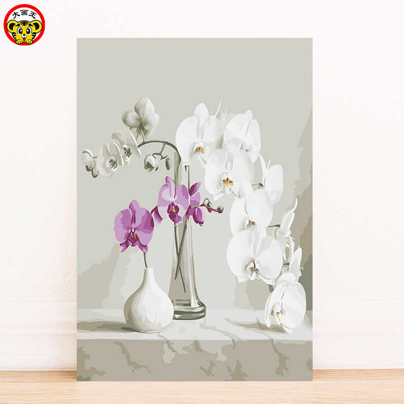 paint by number art painting by numbers anime Flower flower vase