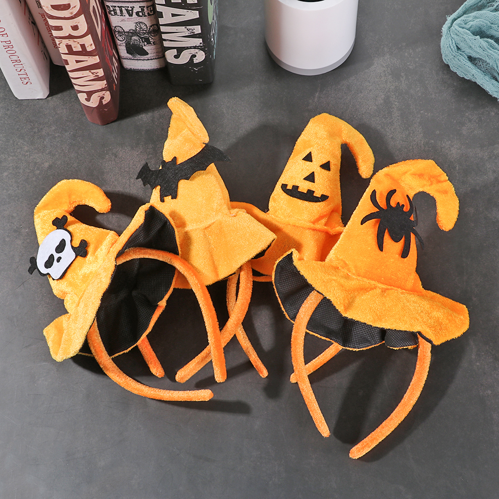 Headband Face-Hairband Cosplay Smiling Halloween Gothic 1PC Fashion Skull Bat Decor Pumpkin-Hat