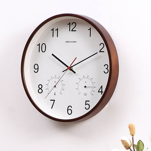 Wood Quartz Clock Wall Modern Design