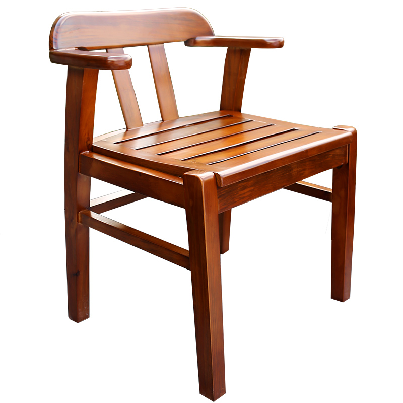 Solid Wood Log Chair Home Wooden Dining Chair Armrest Wood Chair Chair Hotel Modern Minimalist Special Small Chair