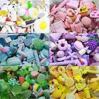 30 個ランダムミックスミニチュア樹脂カボションアイスクリームキャンディーチョコレートケーキビーズ DIY 電話ケースの装飾ジュエリーチャームアクセサリー