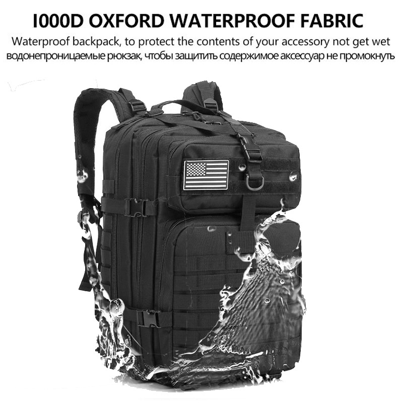 50L Camo Military Bag Men Tactical Backpack Molle Military Army Bug Out Bag Waterproof Camping Hunting Backpack Trekking Hiking
