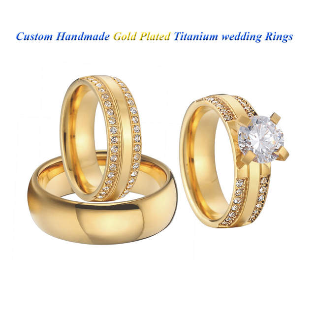 Women S Ring Alliance 3 Pieces Couple Wedding Rings Set For Men