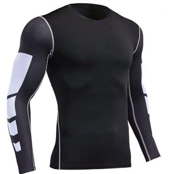 Running T-Shirts Men Clothing Compression Rashguard Men #8217 s Gym TShirt Sport jerseys Spandex Dry Fit T Shirt Man Quick Dry Tops tanie i dobre opinie Wiosna Lato AUTUMN Winter Pasuje prawda na wymiar weź swój normalny rozmiar
