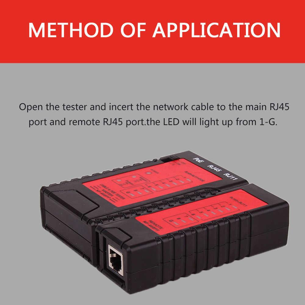 NF-468PF شبكة كابل اختبار RJ45 RJ11 PoE التبديل اختبار ل إيثرنت كابل شبكة محلية الثابت الهاتف سلك اختبار أداة