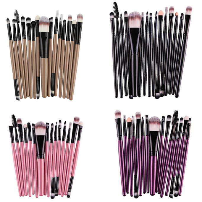 15 Pcs Make-Up Kwasten multifunctionele Foundation Oogschaduw Wenkbrauw Lip Mascara Borstel Blend Make-Up Borstel Set Pinceaux Maquillage