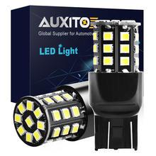 Luz LED de freno para coche T20 7443 W21/5W W21 5W 2835 33 SMD, lámpara de señal de giro, 12V DRL 6000K, 2 uds.