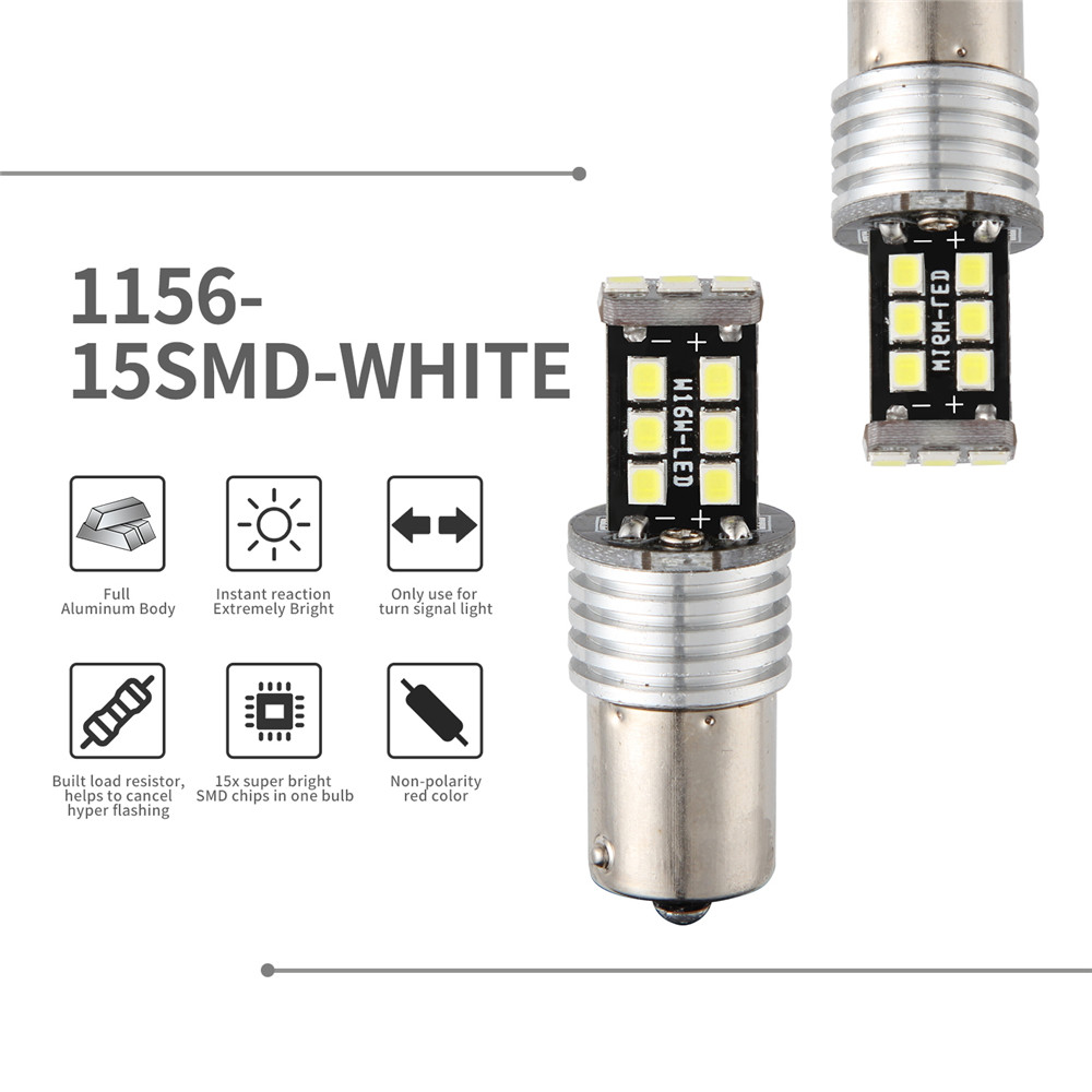 1x Ultra Bright White 24-LED Reverse Light High Power Safety Back Up Bulb
