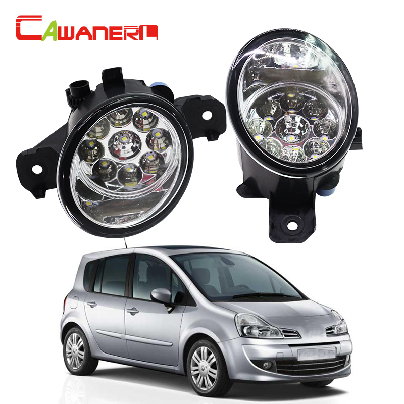 Cawanerl Car Styling Fog Light DRL Daytime Running Light <font><b>LED</b></font> Light For <font><b>Renault</b></font> <font><b>Modus</b></font> / Grand <font><b>Modus</b></font> (F/JP0_) Hatchback 2004-2015 image