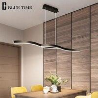 Modern Led Chandelier Lighting For Living room Dining room Kitchen Acrylic Led Chandelier Home 120 100cm Luminareis Black&White