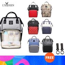 Lequeen модная сумка для подгузников для мам, брендовая Большая вместительная детская сумка, рюкзак для путешествий, дизайнерская сумка для ухода за ребенком