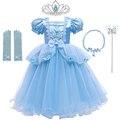 Платье принцессы Золушки для девочек; Детские платья для девочек; Рождественский костюм; Вечерние элегантные новогодние платья на Хэллоуин