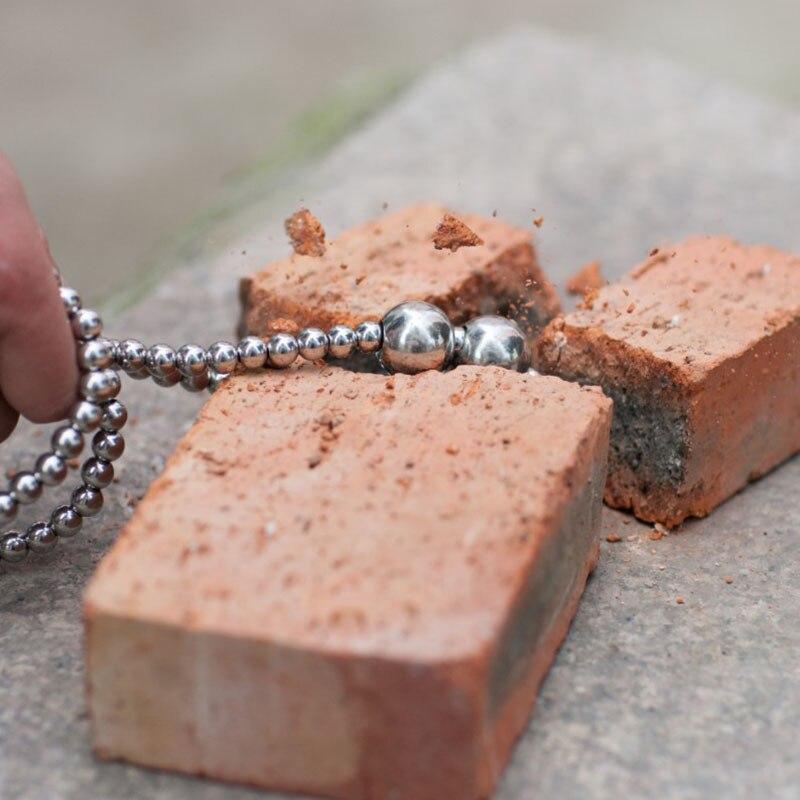 113 см большой стальной шар, браслет для самозащиты, ожерелье из нержавеющей стали, кнут из титановой стали, Женская Личная безопасность