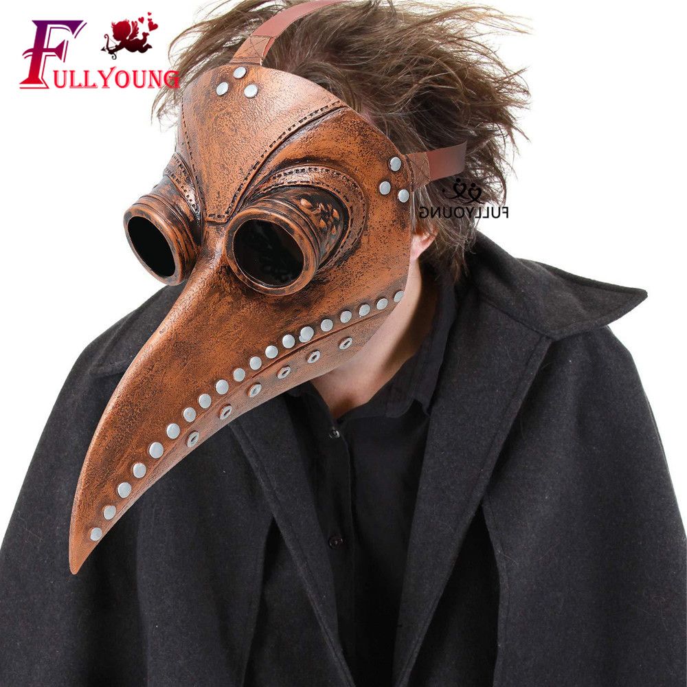 2020 Plague Doctor Bird Mask  Leather Steampunk Cosplay Mask Latex Funny Holiday Antibacterial Halloween Fight Costume Gatic