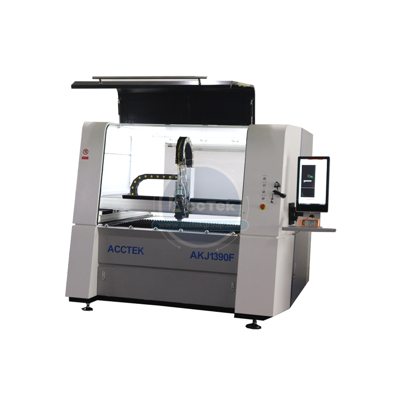 Cheap Price Small Laser Cutting Machine Laser Cnc Metal Sheet Fiber Laser Cutting Machine AKJ1390F