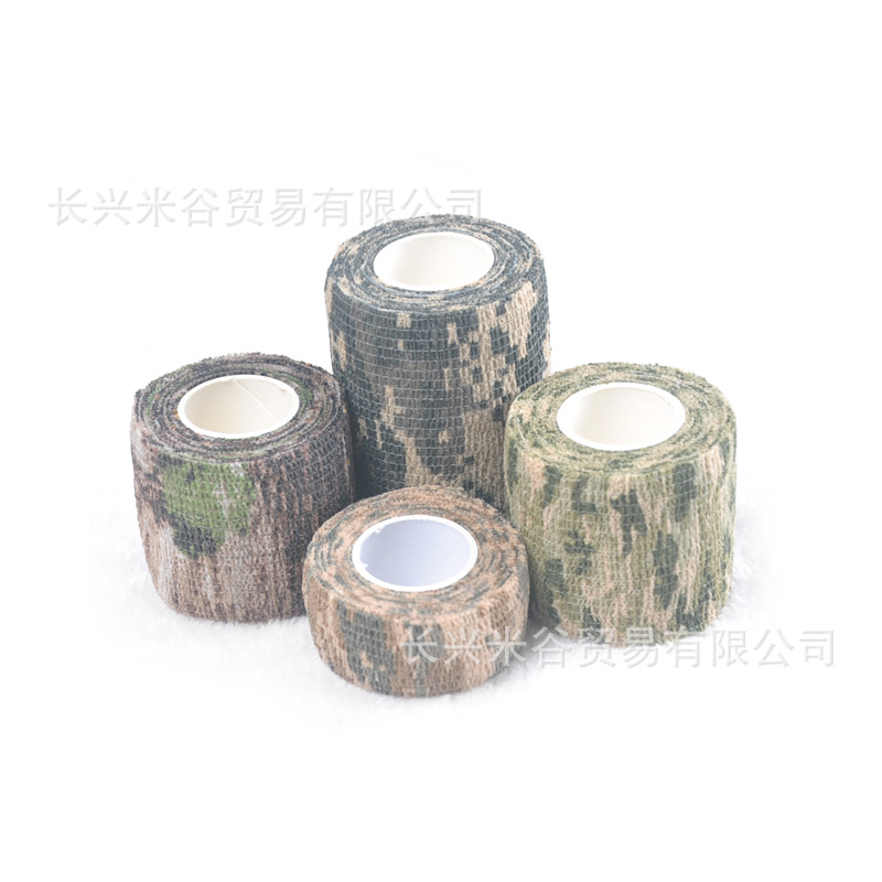 2.5 Cm Wheat Caisson Camouflage Nonwoven Fabric Self-Adhesive Stretched Bionic Outdoor Camouflage Sports Protection Refers To El