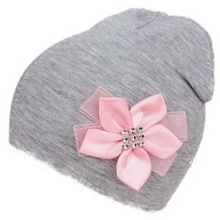 brand baby girl flower hat cap bow tie cotton flower beanie for girls Butterfly Knot Melamed bonnet 6 months-3 years