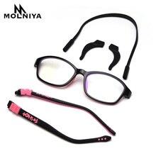 Анти-синий свет оптические детские очки в оправе силиконовые очки детские гибкие защитные детские очки с диоптриями