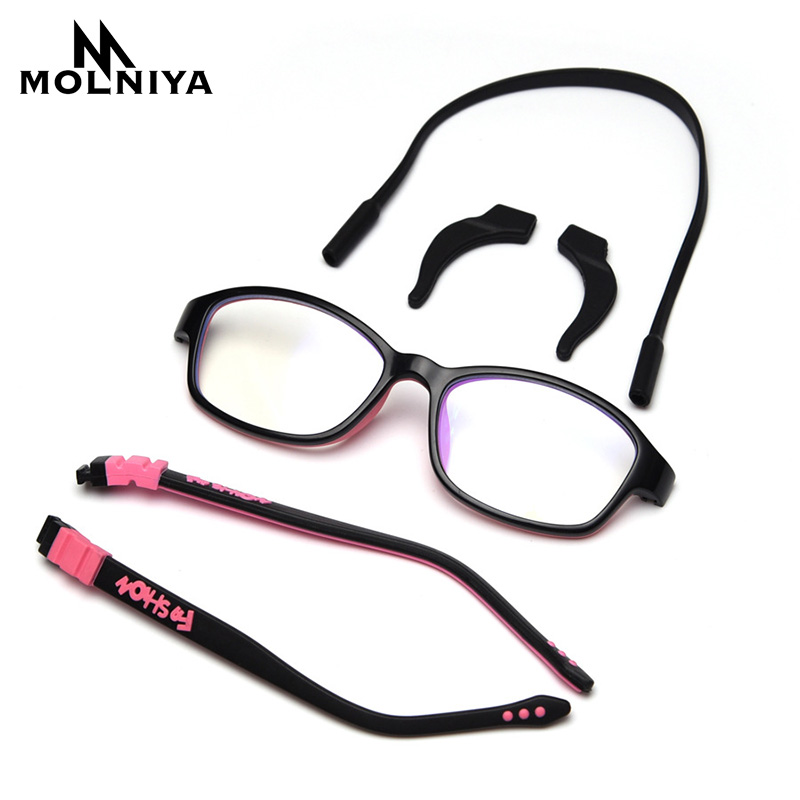 Anti-Blue Light Optical Children Glasses Frame Silicone Glasses Children Flexible Protective Kids Glasses Diopter Eyeglasses