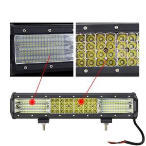 Image 5 - Auxiliações 4 5 7 9 12 15 17 20 23 polegadas, barra de luz de led 9d, para dirigir off road lâmpada led 4 linhas barco carro trator caminhão suv atv