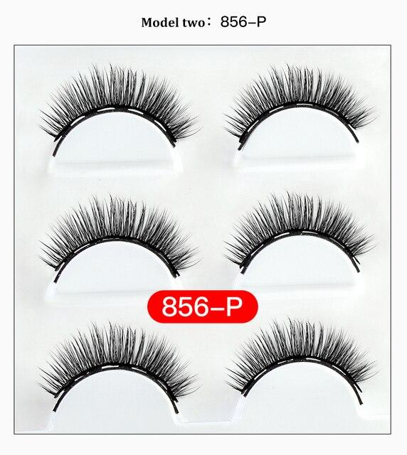 5 Magnet Eyelash Magnetic Eyeliner & Magnetic False Eyelashes & Tweezer Set 6 PCS Resuable Eyelashes Makeup Kit New Year Gift 6